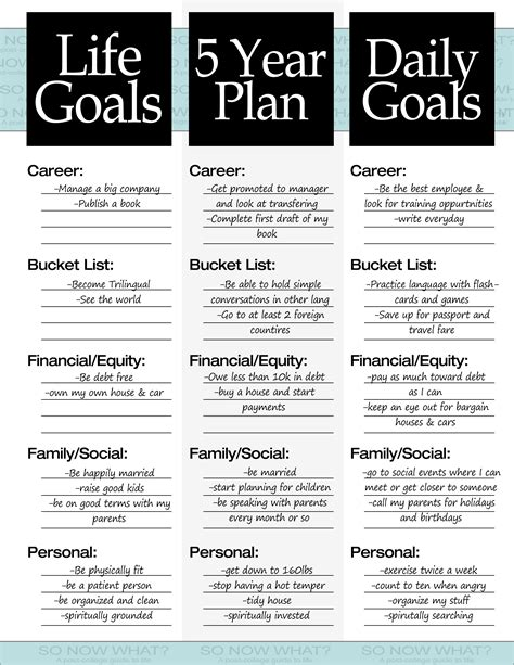 5 year career plan template the 3 steps to a 5 year plan so now what