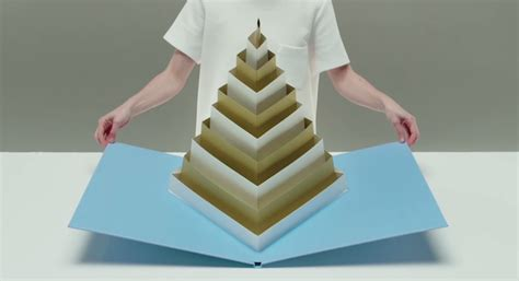 pop up a sculptural geometric pop up book by tauba auerbach