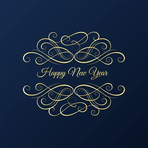 new year background card new year card with blue background vector background