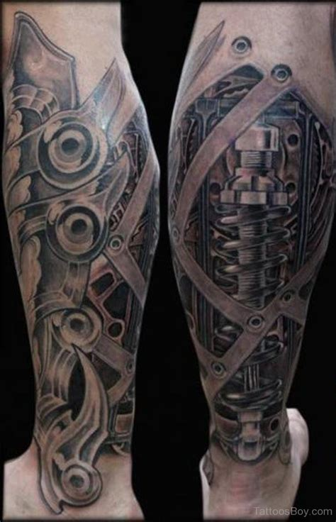 biomechanical leg tattoo designs biomechanical tattoos designs pictures