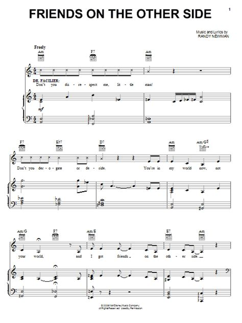 Friends On The Other Side Sheet Music | friends on the other side sheet music direct
