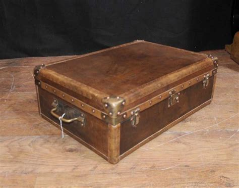 steunk end table leather trunk coffee table cowhide leather trunk coffee