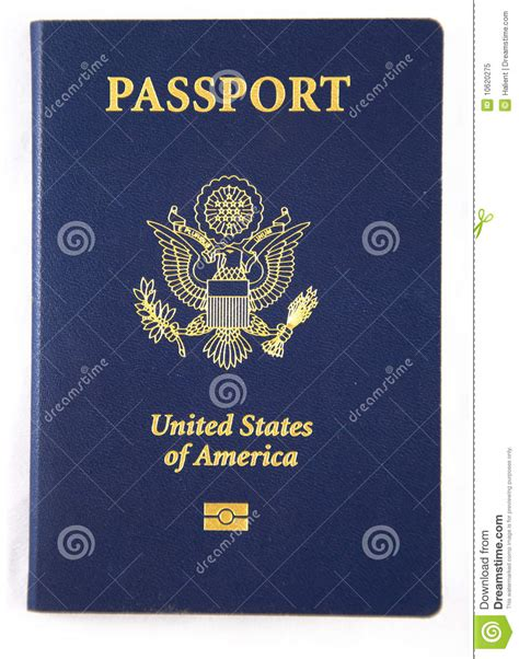 picture of a passport book new usa passport book royalty free stock photo image