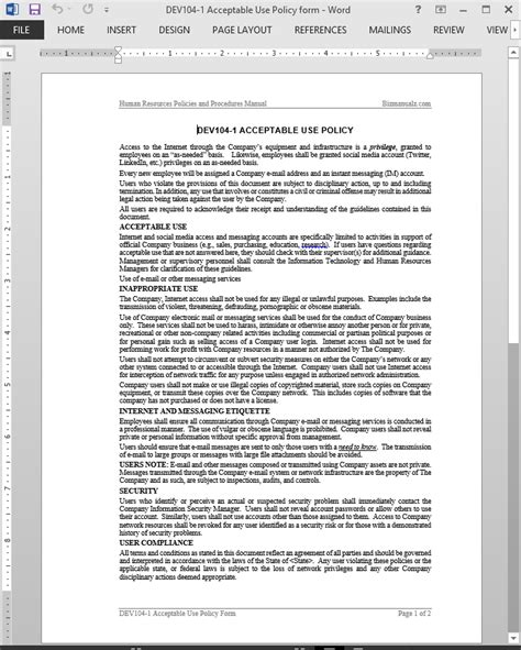 Acceptable Use Policy Acceptable Use Policy Template Computer Acceptable Use Policy Template