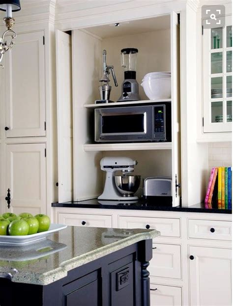 kitchen appliance storage cabinets custom storage cabinet best 25 appliance garage ideas on pinterest diy hidden
