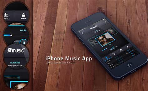 iphone music layout iphone music app by boriswick on deviantart
