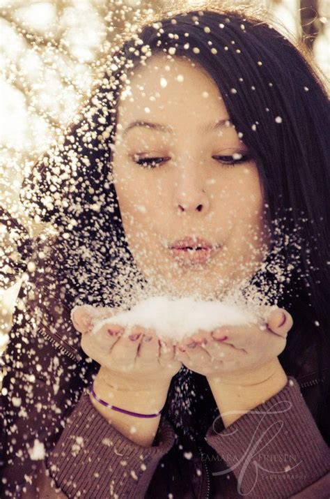 cute winter themes cute winter photoshoot idea blowing fluffy snow out of my