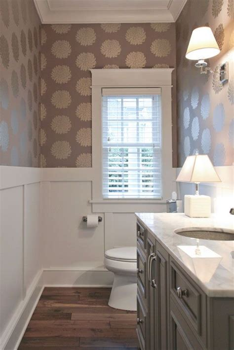 bathroom with wallpaper ideas guest bath decorating ideas pinterest