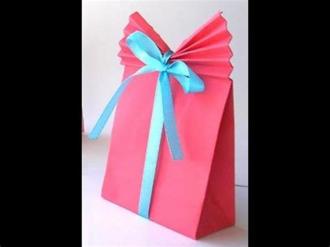 Easy Way To Make Paper Bag - diy crafts how to make a paper gift bag easy tutorial