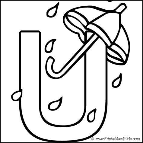 free block letter u coloring pages