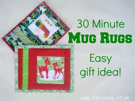 Simple Rug Patterns And holiday mug rug the sewing loft