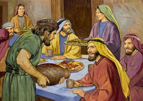 Wedding Feast At Cana In Matthew by A Vision Of The Gospel Jesus At His Friend S Feast