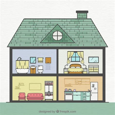 house with rooms interior of house with rooms vector free download
