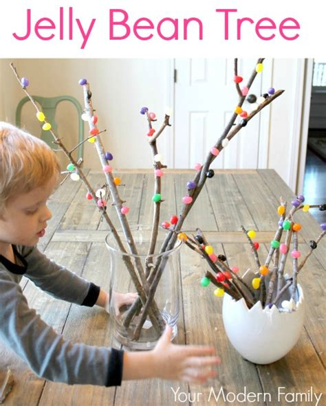Branch Decorations For Home Jelly Bean Tree A Diy Decoration That The Kids Can Learn