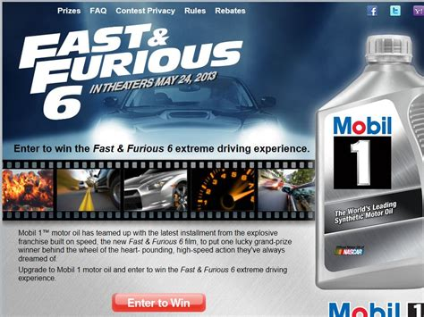 Extreme Sweepstakes - fast furious 6 extreme driving experience sweepstakes