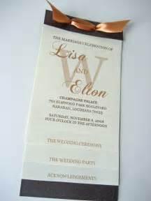 Photos unique wedding programs ideas and wording etiquette guide