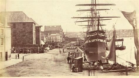 old boat found in sydney circular quay from pitt street sydney 1870 australia
