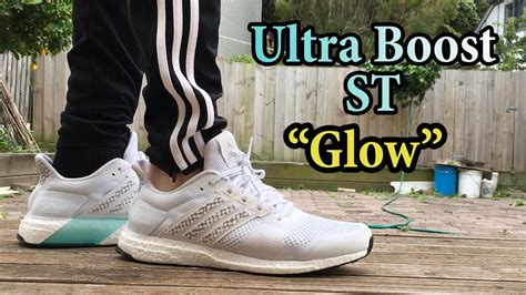 adidas ultra boost st glow white  detailed close