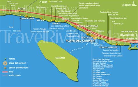 printable map playa del carmen riviera maya playa del carmen map