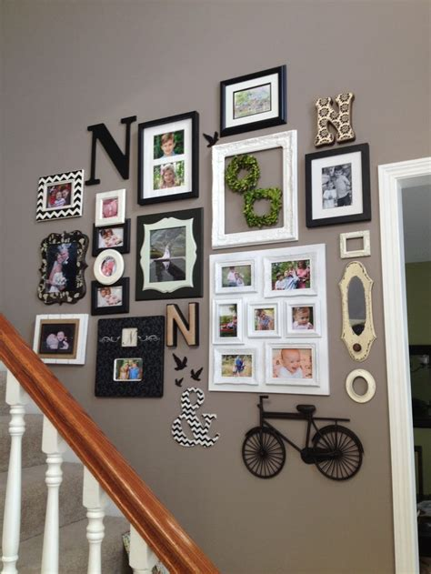 staircase wall decor staircase wall decor diy and home designs pinterest