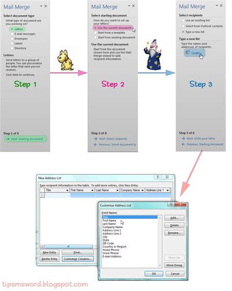 yang dibutuhkan untuk membuat mail merge memanfaatkan mail merge untuk membuat surat tip dan trik