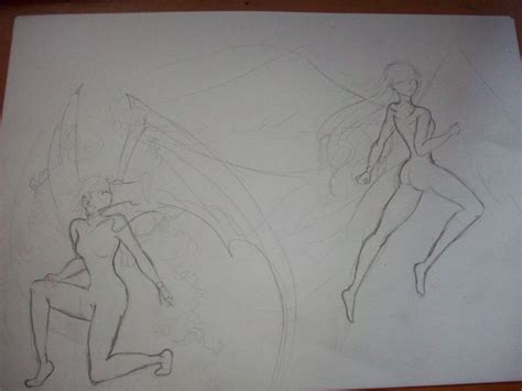 imagenes de angeles y demonios para dibujar a lapiz 193 ngeles y demonios paso a paso taringa