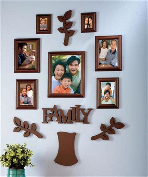 9 piece family tree wall photo frame set hanging frames picture home decor gift ebay attractive 12 piece family tree picture frame collage set
