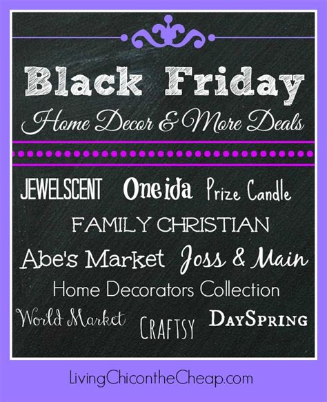 black friday home decor more deals