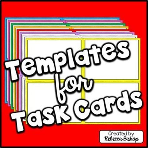 Task Cards Card Templates And Templates On Pinterest Task Card Template 2