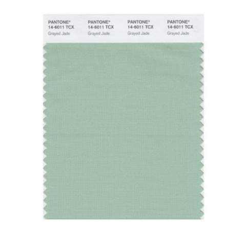 pantone smart 14 6011x color swatch card grayed jade np home colors