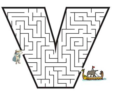 College With Letter V Free Printable Maze Of The Letter V Veer Vacation School Maze Free Printable