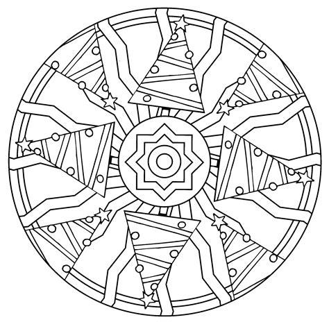 Coloriage Mandala Noel 224 Imprimer Sur Coloriages Info