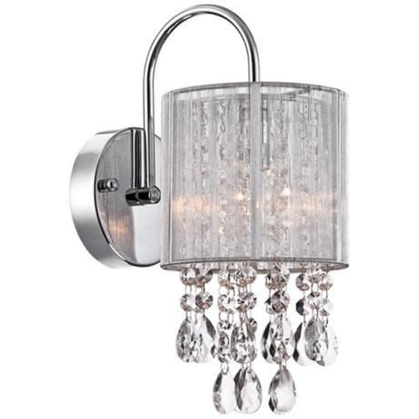 crystal wall sconce bathroom possini euro silver line 12 quot h chrome and crystal sconce