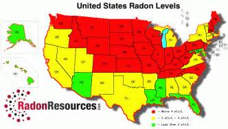 united states radon map radon levels radonresources