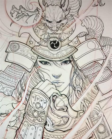 geisha warrior tattoo drawings geisha warrior sketch by davidhoangtattoo for a tattoo