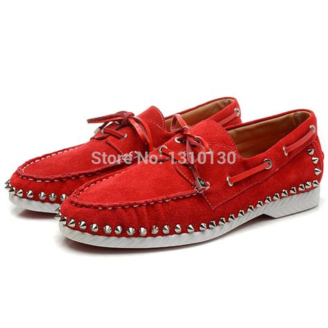 flat bottom boat shoes red bottom men shoes flat boat shoes red