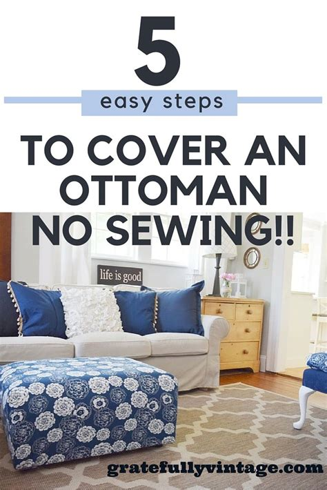 how to cover an ottoman no sew slip cover for an ottoman ottomans and sew
