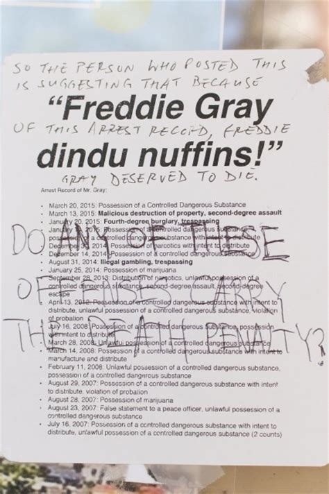 Gray Criminal Record Freddie Gray Stickers Posted Outside Afrikan Student Union Office Daily Bruin