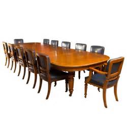 12 chair dining room set antique oak dining table and 12 chairs c 1870 at