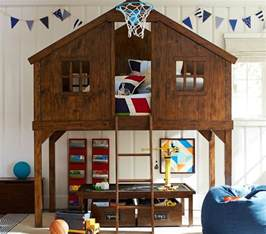 Bunk Bed Tree House Tree House Fort Bunk Bed Inspiration Pennant Flags Lego Table And Storage Underneath Storage