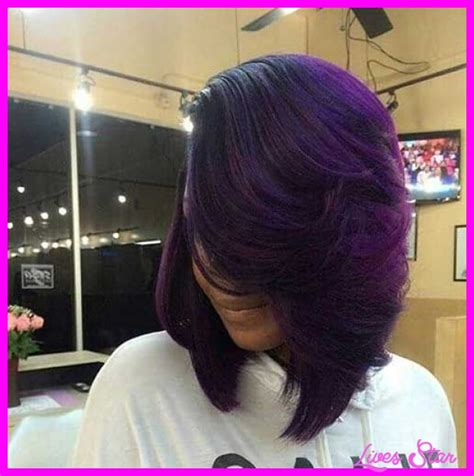 layered bob sew in hairstyles for black women for older women layered bob haircuts for black women livesstar com