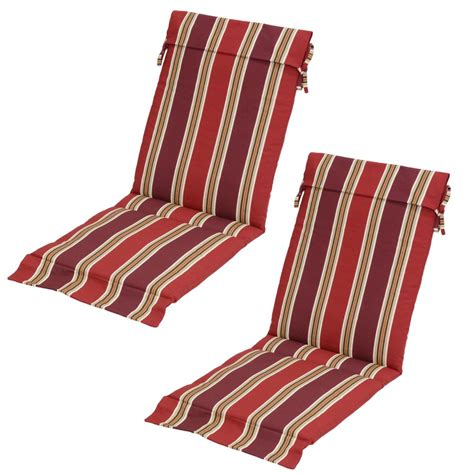 patio chair slipcovers chili stripe outdoor sling chair cushion pack of 2 7732