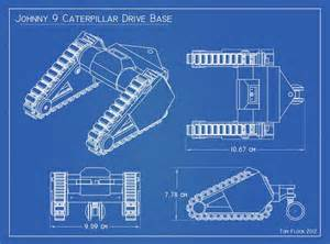 easy blueprint maker robot caterpillar tank treads johnny five style 3d print all