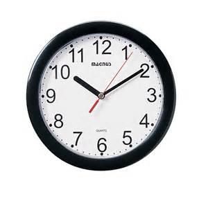 Dainolite round black wall clock by oj commerce 23 04 23 05