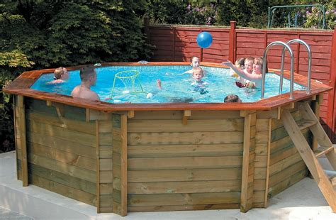 swimming pool holz made stretched octagon wooden swimming pool