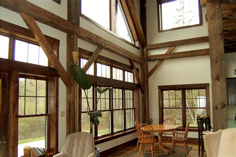 Heritage House Home Interiors Living Off Grid In A Restored Timber Frame By Timberhart