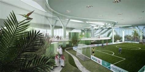 tree inspired indoor soccer complex  qatar