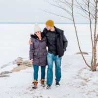winter engagement session penetanguishene, on rowell