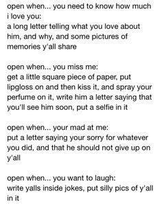 up letter to your lover open when letters stuff gift