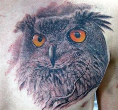 tattoo 3d owl 3d realistic owl tattoo on chest tattooimages biz